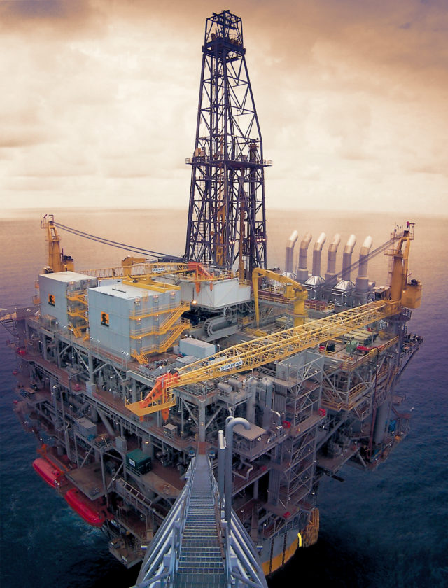 offshore oil site in water